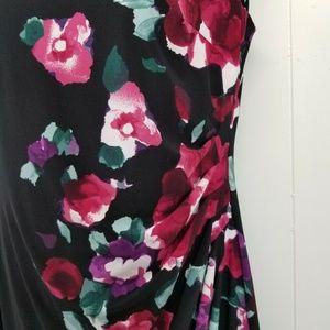 Lauren Ralph Lauren Dresses - Ralph Lauren 10 Sheath Dress Wiggle Black Floral